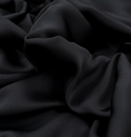 Melns divpusējs zīda satīna audums. Photo 5