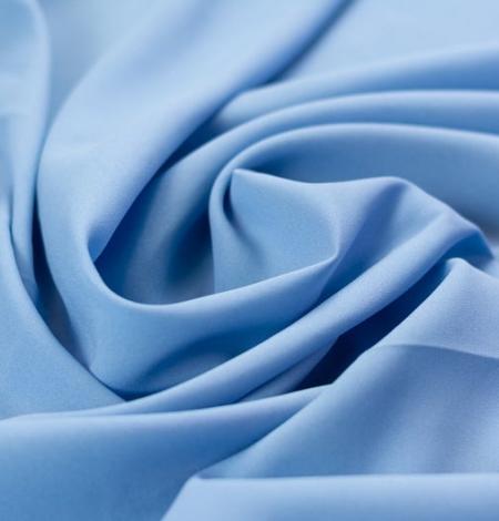 Zils zīda un elastāna krepa audums. Photo 1
