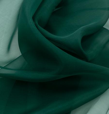 Rubīna zaļš zīda organzas audums. Photo 9