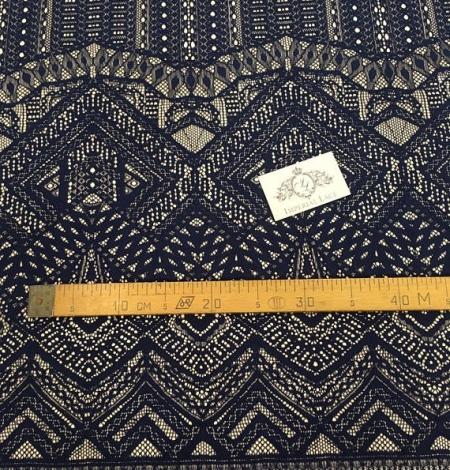 Navy Blue Lace Fabric. Photo 5