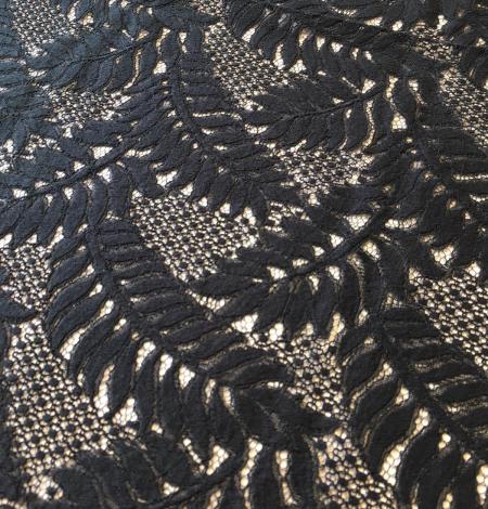 Black lace fabric. Photo 2