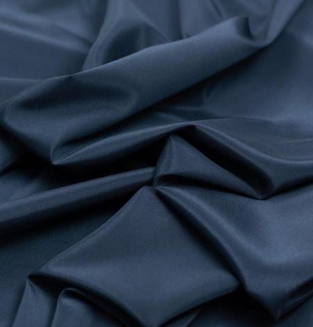 Tumši zila viskozes un elastāna oderes audums. Photo 2