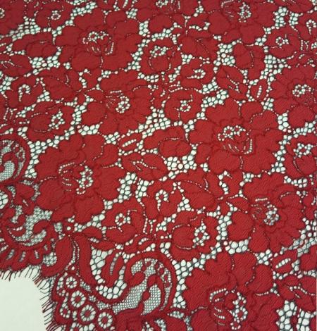 Sarkana ar melnu guipure mežģīņu audums. Photo 2