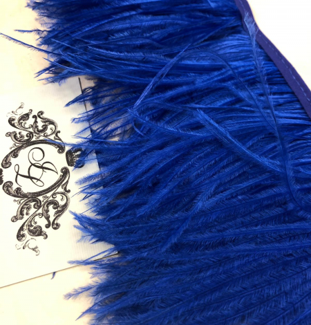 Blue ostrich feathers. Photo 1