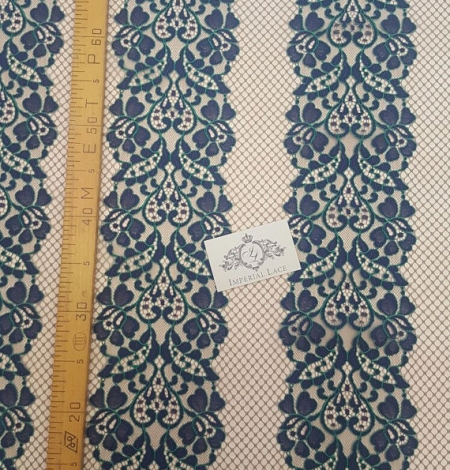 Navy Blue Lace Fabric. Photo 3