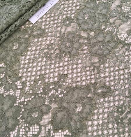Khaki lace fabric. Photo 4