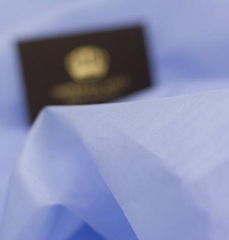 Zils ar pelēku toni zīda organzas audums. Photo 7