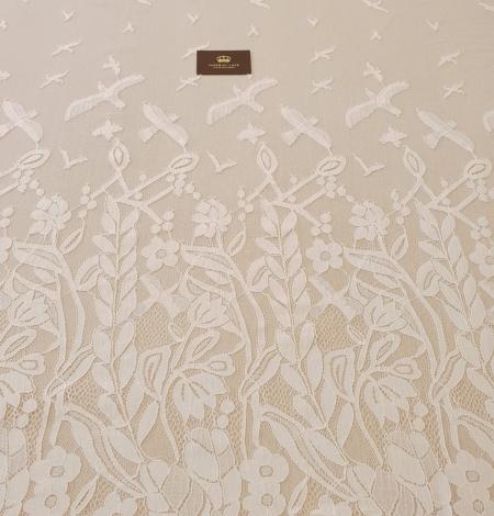 Ziloņkaula puķaina Chantilly mežģine. Photo 5