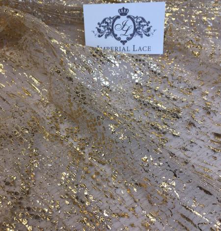 Miesas krāsas tilla audums ar zelta pārklājumu. Photo 5