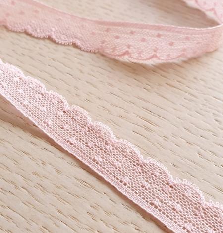 Gaiši rozā chantilly mežģīnes apdares lente. Photo 1