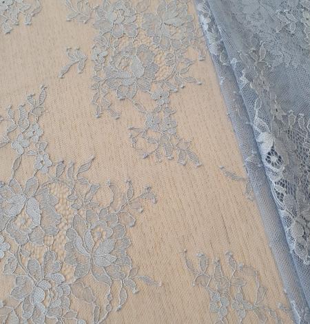 Zili pelēka Puķaina Cantilly mežģīne. Photo 2