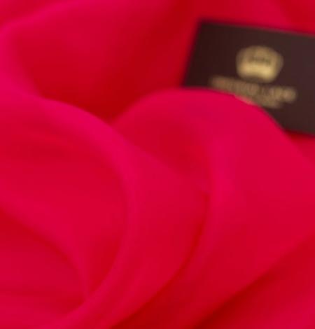 Fuksijas rozā zīda organzas audums. Photo 5