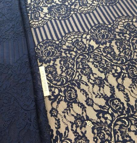 Tumši Zila Chantilly Mežģīne. Photo 1