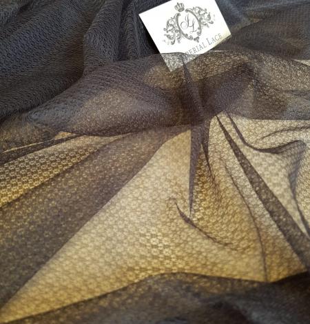 Tumši pelēks ar geometrisko zīmējumu tilla audums. Photo 8