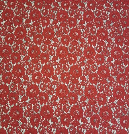 Sarkana ar melnu guipure mežģīņu audums. Photo 3