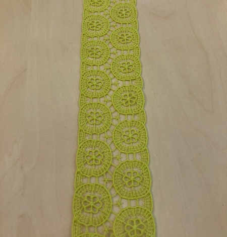 Salāt zaļa kokvilnas mežģīne. Photo 3