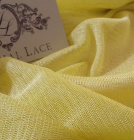 Dzeltens zīda tilla audums. Photo 1