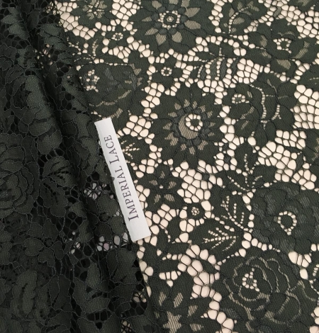 Green lace fabric. Photo 2