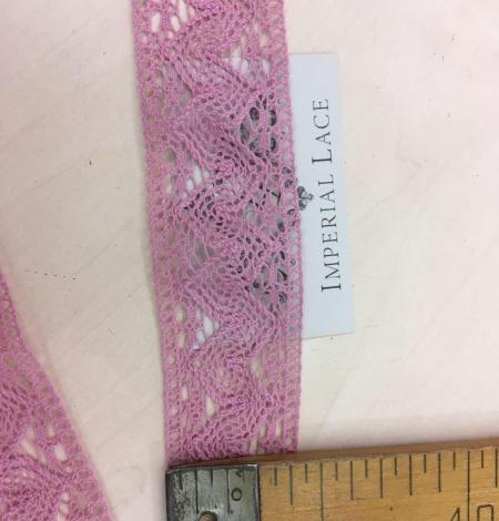 Veci rozā kokvilnas mežģīnes maliņa. Photo 3