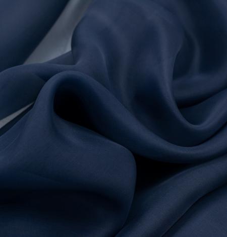 Tumši zils zīda organza audums. Photo 6