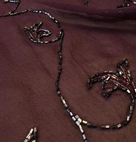 Lillā izšuvums uz zīda šifona auduma. Photo 2