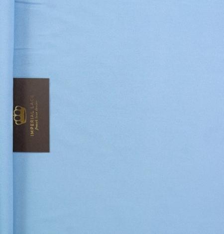 Zils zīda un elastāna krepa audums. Photo 5