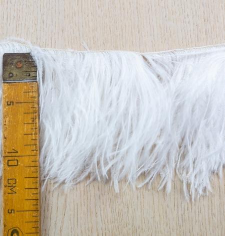 Piena baltas maigas dabīgas strausa spalvas. Photo 7