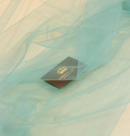 Lagūnas jūras zaļš mīksts tilla audums no Itālijas. Photo 5