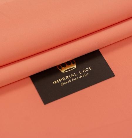 Persiku krāsas zīda krepa audums. Photo 1