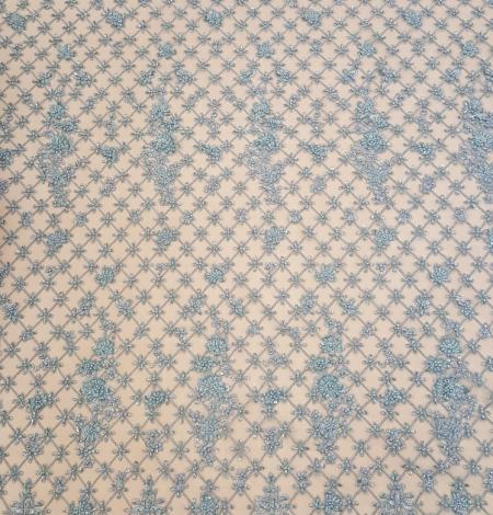 Sea blue beaded lace. Photo 8