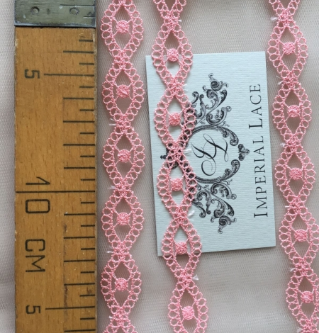 Gaiši rozā macrame mežģīnes maliņa. Photo 5