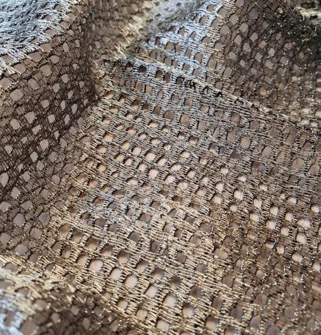 Metallic color guipure lace fabric . Photo 7