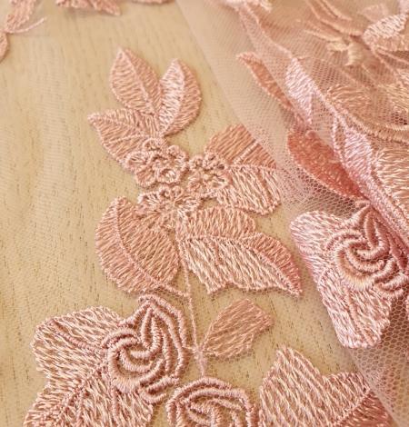Veci rozā puķains raksts uz tilla auduma. Photo 4