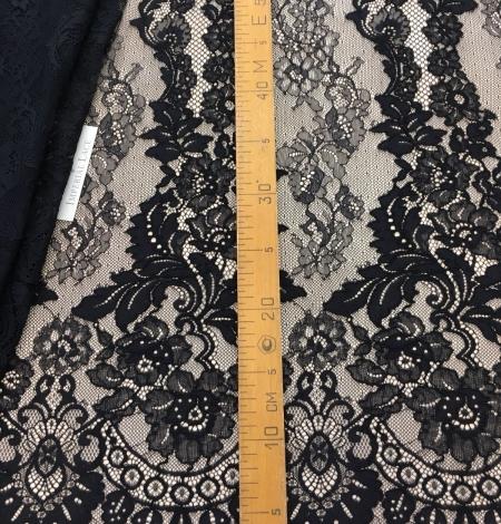 Black lace fabric. Photo 8