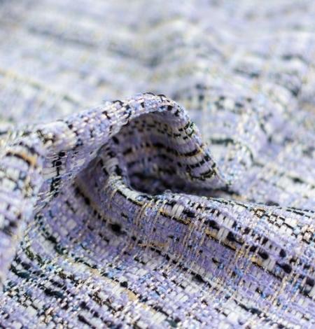 Violets ar zilu nokrāsu ar daudzkrāsainu tvīda audumu. Photo 2