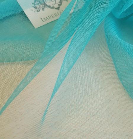 Tirkīza krāsas zīda tilla audums. Photo 6