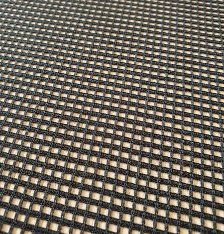 Black guipure mesh lace fabric. Photo 4