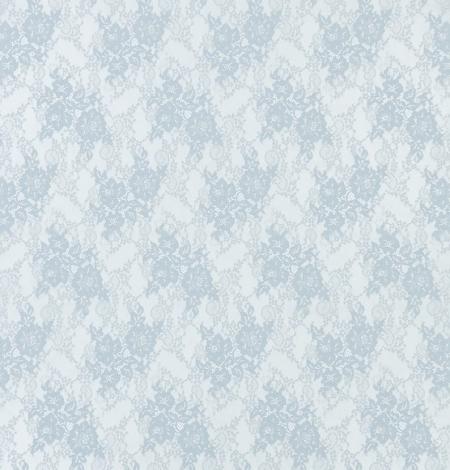 Baložu zils ziedu raksta chantilly mežģīņu audums. Photo 7