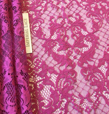 Raspberry red lace fabric. Photo 3