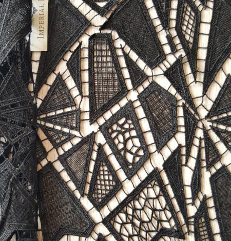 Black lace fabric. Photo 6
