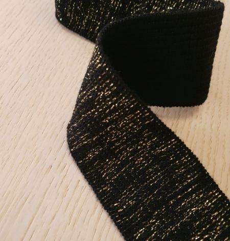 Melns ar zelta gumijas lentes aplikācija. Photo 6