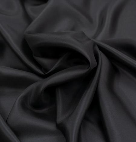 Melni pelēks zīda oderes audums. Photo 6