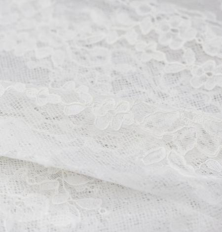 Piena balts ziedu chantilly mežģīņu audums. Photo 5