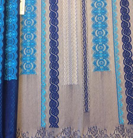 Zila Chantilly mežģīne. Photo 6