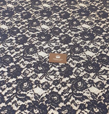 Dark blue guipure lace fabric. Photo 7