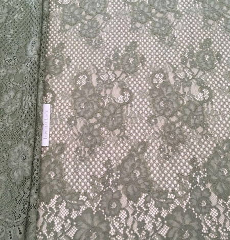 Khaki lace fabric. Photo 1