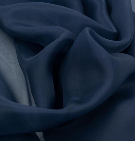 Tumši zils zīda organza audums. Photo 5