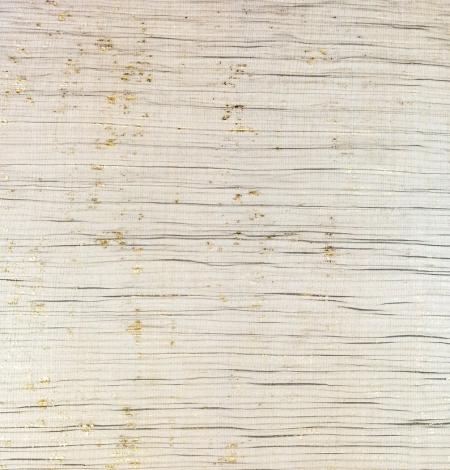 Melns gofrēts tilla audums ar zelta foliju. Photo 6