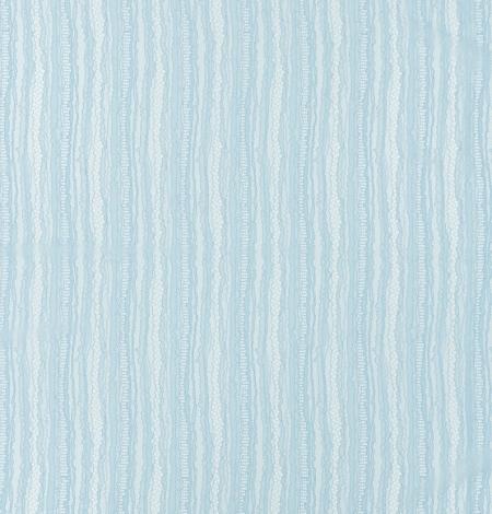 Gaiši zils abstrakts līniju chanttilly mežģīņu audums. Photo 9
