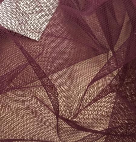 Tumši lillā krāsas tilla audums. Photo 2
